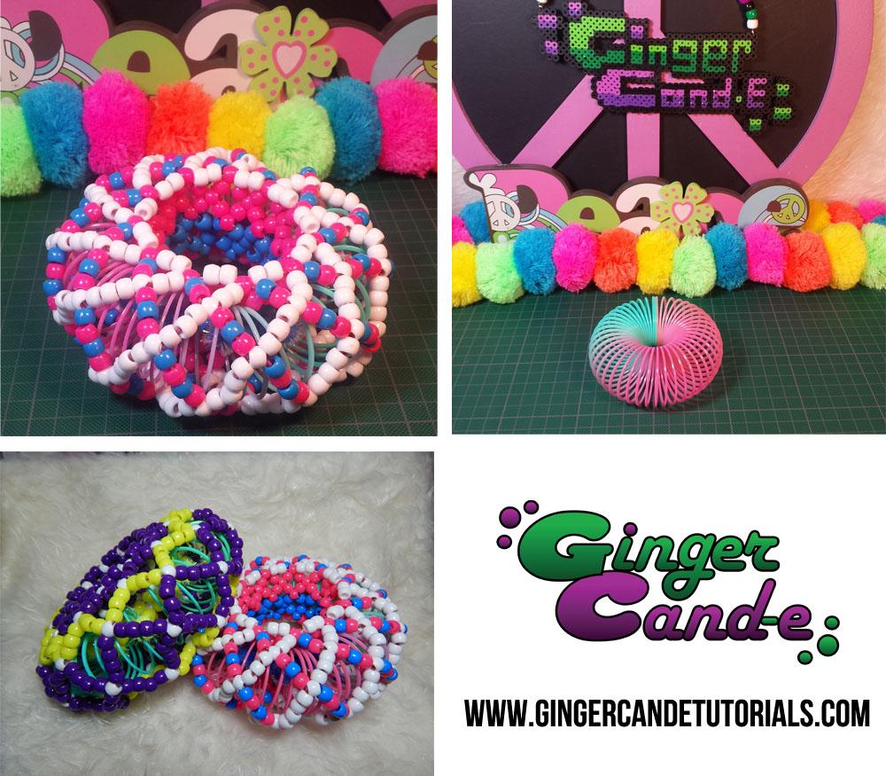 Kandi Slinky Cuff Collage