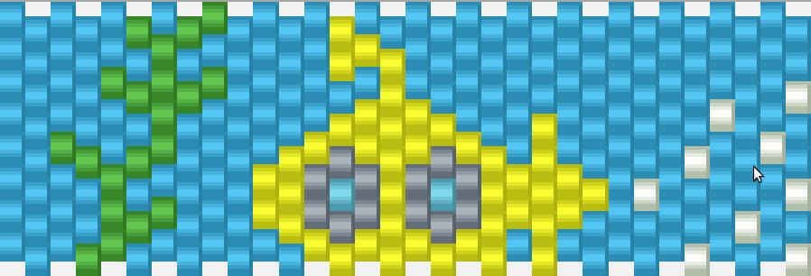 Yellow Submarine Kandi Pattern