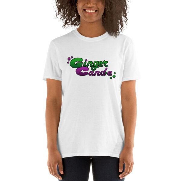 Ginger Cand-e Logo - Short-Sleeve Unisex T-Shirt | Gildan - White