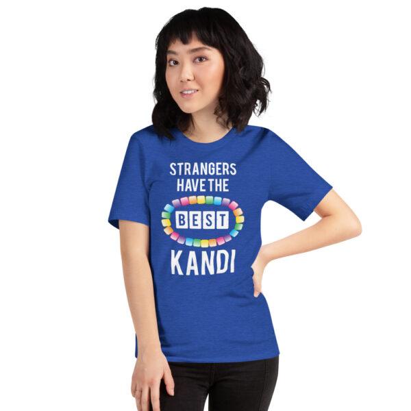 Strangers Have the Best Kandi - Short-Sleeve Unisex T-Shirt | Bella + Canvas - Heather True Royal