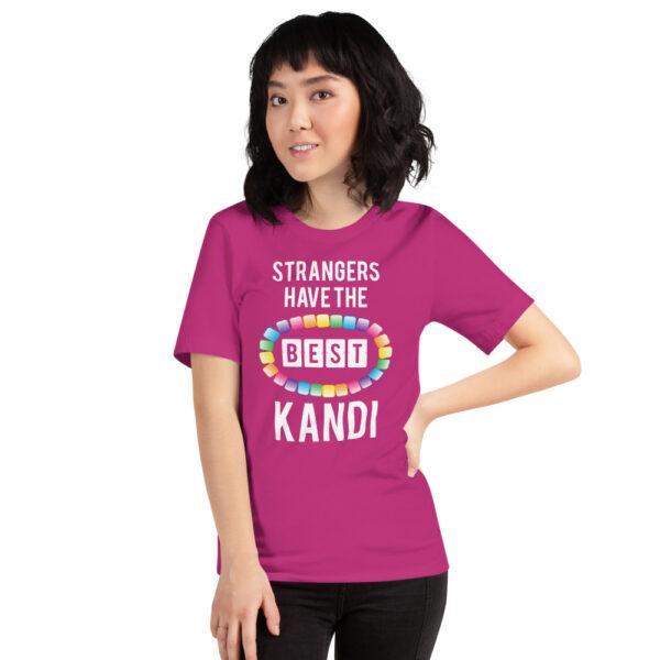 Strangers Have the Best Kandi - Short-Sleeve Unisex T-Shirt | Bella + Canvas - Berry